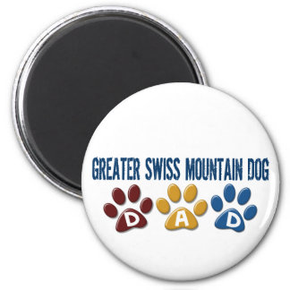 GREATER SWISS MOUNTAIN DOG Dad Paw Print 1 Magnet