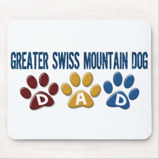 GREATER SWISS MOUNTAIN DOG Dad Paw Print 1 Mouse Pad