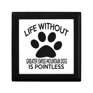 GREATER SWISS MOUNTAIN DOG DESIGNS SMALL SQUARE GIFT BOX