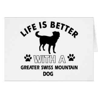 Greater Swiss Mountain Dog designs Greeting Card