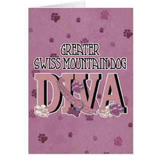Greater Swiss Mountain Dog DIVA Greeting Card