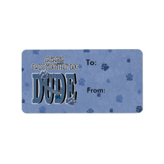Greater Swiss Mountain Dog DUDE Address Label