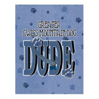 Greater Swiss Mountain Dog DUDE Postcard