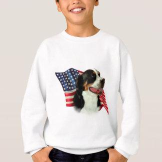 Greater Swiss Mountain Dog Flag Sweatshirt