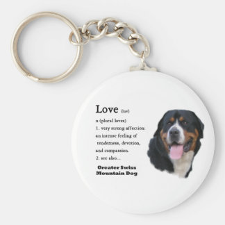 Greater Swiss Mountain Dog Gifts Basic Round Button Key Ring