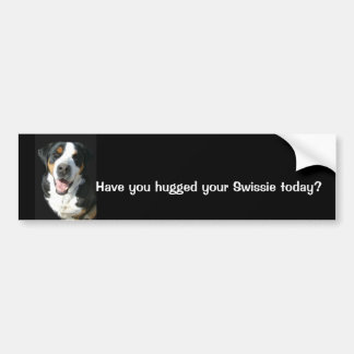 Greater Swiss Mountain Dog Happy Bumper Sticker