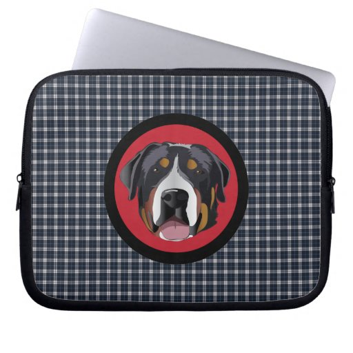 GREATER SWISS MOUNTAIN DOG LAPTOP COMPUTER SLEEVE
