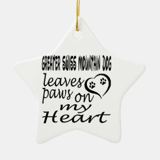 Greater Swiss Mountain Dog Leaves Paw On My Heart Christmas Tree Ornament
