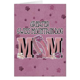 Greater Swiss Mountain Dog MOM Greeting Card