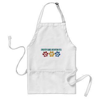 GREATER SWISS MOUNTAIN DOG Mom Paw Print 1 Adult Apron