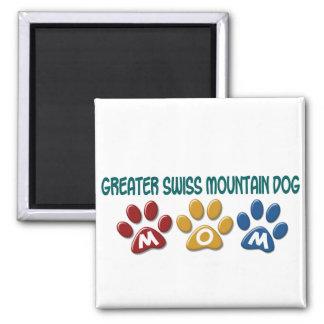 GREATER SWISS MOUNTAIN DOG Mom Paw Print 1 Fridge Magnet