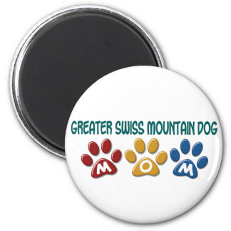 GREATER SWISS MOUNTAIN DOG Mom Paw Print 1 Fridge Magnets