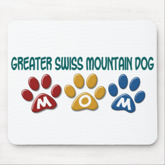 GREATER SWISS MOUNTAIN DOG Mom Paw Print 1 Mouse Pads