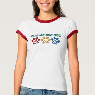 GREATER SWISS MOUNTAIN DOG Mom Paw Print 1 T-Shirt