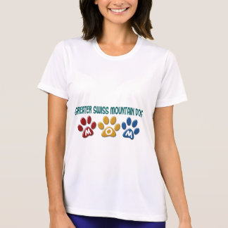 GREATER SWISS MOUNTAIN DOG Mom Paw Print 1 T Shirts