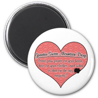 Greater Swiss Mountain Dog Paw Prints Humor Magnets