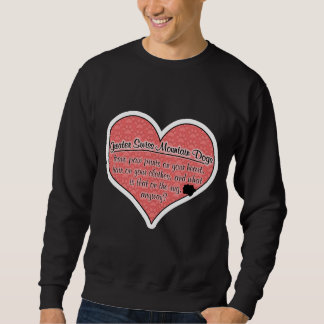 Greater Swiss Mountain Dog Paw Prints Humor Pullover Sweatshirt