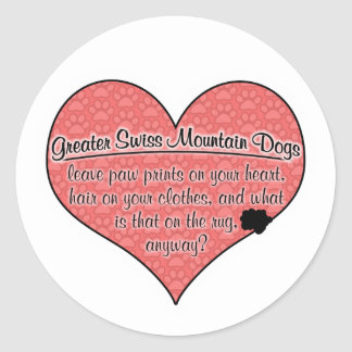 Greater Swiss Mountain Dog Paw Prints Humor Sticker