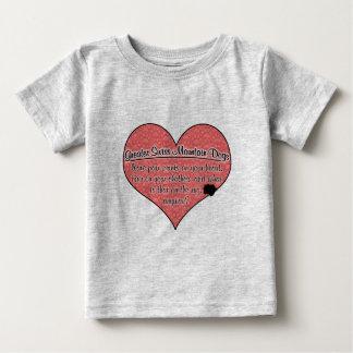 Greater Swiss Mountain Dog Paw Prints Humor Tee Shirt