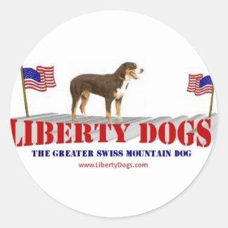 Greater Swiss Mountain Dog Round Sticker