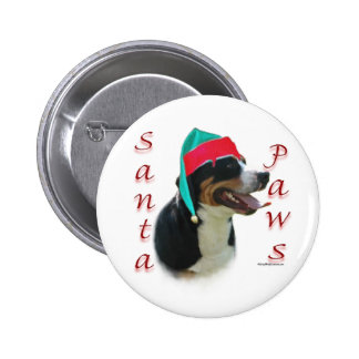 Greater Swiss Mountain Dog Santa Paws 6 Cm Round Badge