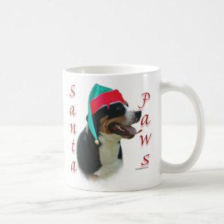 Greater Swiss Mountain Dog Santa Paws Basic White Mug