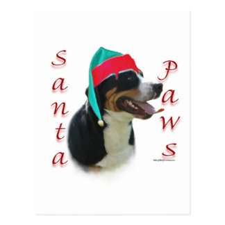 Greater Swiss Mountain Dog Santa Paws Postcard