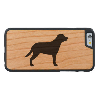 Greater Swiss Mountain Dog Silhouette Carved Cherry iPhone 6 Case