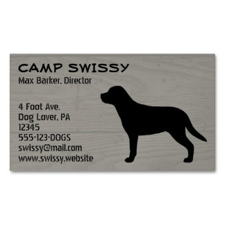 Greater Swiss Mountain Dog Silhouette Magnetic Business Cards