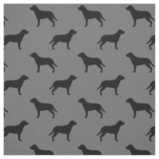 Greater Swiss Mountain Dog Silhouettes Pattern Fabric