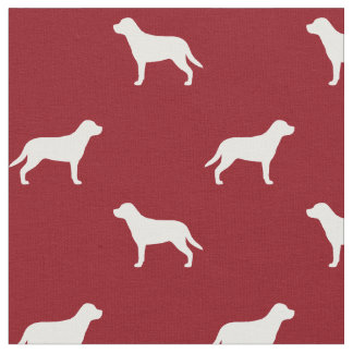 Greater Swiss Mountain Dog Silhouettes Pattern Red