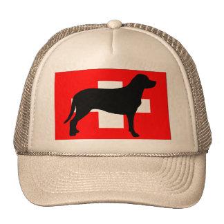 greater swiss mountain dog silo flag switzerland f cap