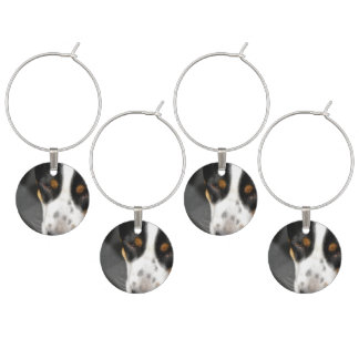 Greater Swiss Mountain Dog Wine Glass Charms