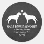 Greater Swiss Mountain Dogs Return Address Round Stickers