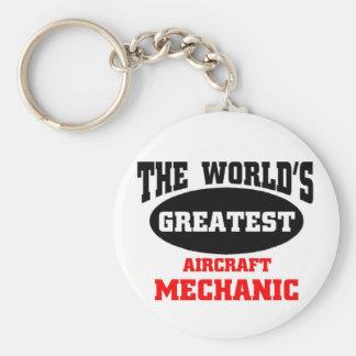 Greatest Aircraft Mechanic Key Ring