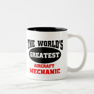 Greatest Aircraft Mechanic Two-Tone Coffee Mug