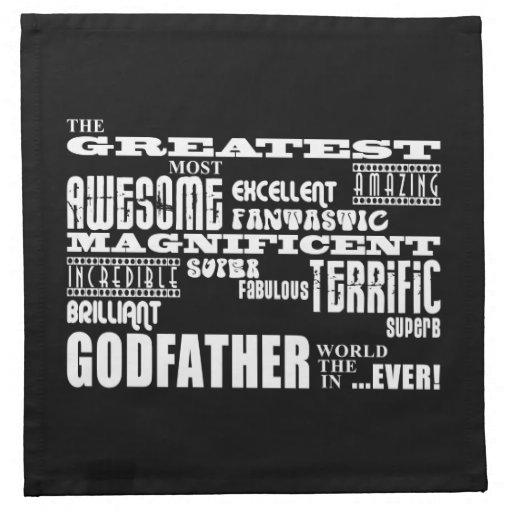 Greatest Best Godfathers Birthdays Christmas Napkin