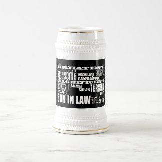Greatest Best Sons in Law Birthday & Wedding Party Beer Stein