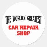 Greatest Car Repair Shop Round Sticker