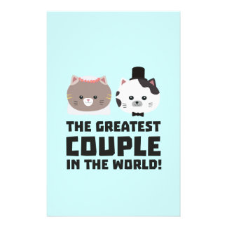 Greatest Cat Couple in the world Zd2n1 14 Cm X 21.5 Cm Flyer