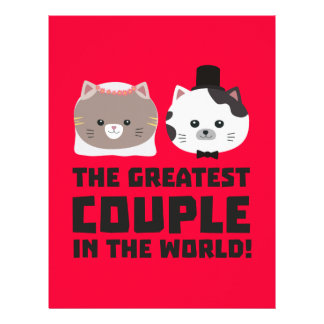 Greatest Cat Couple in the world Zd2n1 21.5 Cm X 28 Cm Flyer
