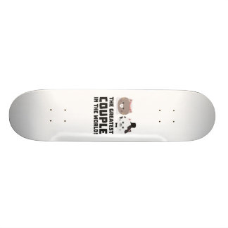 Greatest Cat Couple in the world Zd2n1 Skate Board Deck