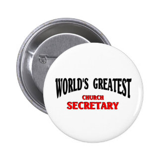 Greatest Church Secretary Button