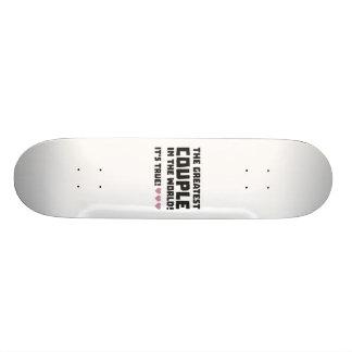 Greatest Couple in the world  Z5rz0 21.6 Cm Old School Skateboard Deck