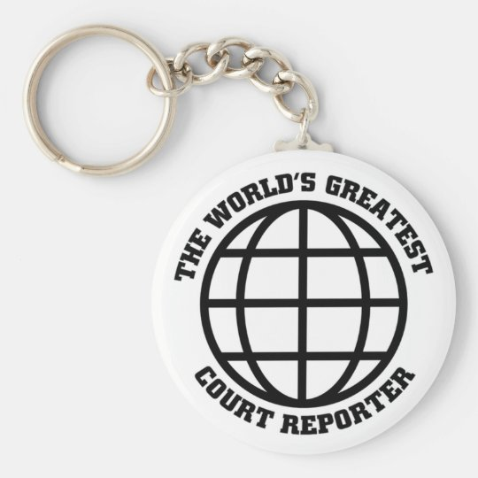 Greatest Court Reporter Basic Round Button Key Ring