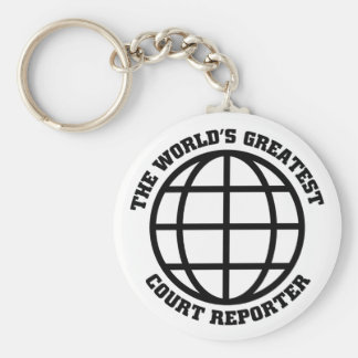 Greatest Court Reporter Key Ring