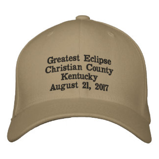 Greatest Eclipse Christian County Kentucky Hat Embroidered Baseball Cap