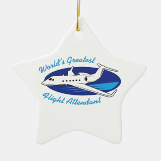 GREATEST FLIGHT ATTENDANT CHRISTMAS ORNAMENTS