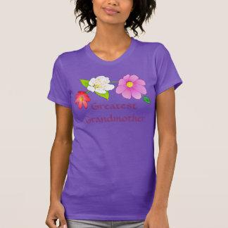 Greatest Grandmother Shirts Hawaiian Flowers Tee