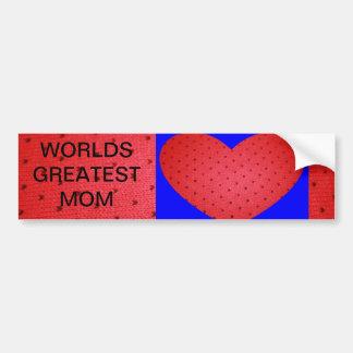 Greatest MOM Valentine Bumper Sticker